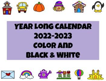 2016 - 2017 Monthly School Calendar