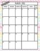2016-2017 School Year Calendars August-May