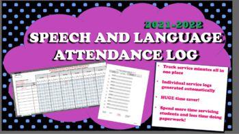 2016-2017 Speech Therapy Service Attendance Log