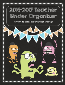 2016-2017 Teacher Binder Organizer & Planner - Hipster Mon