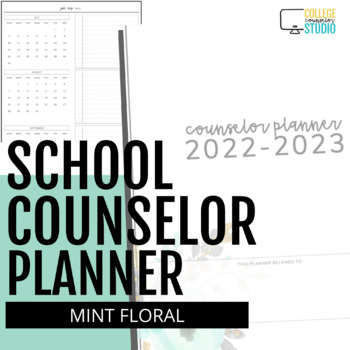 2016-2017 Ultimate School Counselor Planner Minted Floral
