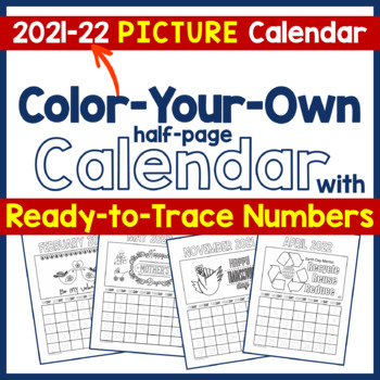 Calendar 2017 - CYO Picture Calendar with Ready-to-Trace Numbers