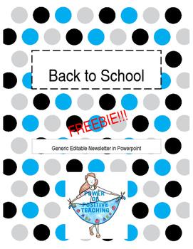 2016 Editable Newsletter - FREEBIE
