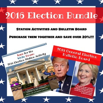 2016 Election Bundle: Stations, Bulletin Boards, and More!