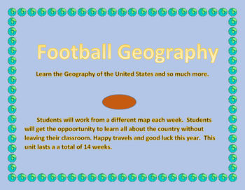 2016 Football Geography Weekly - 14 lessons each with a di