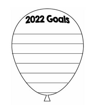 2016 Goals Balloon Outline Template