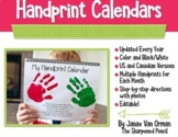 Handprint Calendars with Poems - Editable!