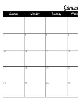 2016 Monthly Calendar (8.5x11)
