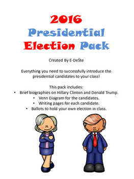 2016 Presidential Election Pack - Clinton and Trump