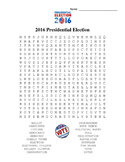 2016 Presidential Election Word Search