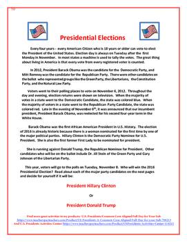 2016 Presidential Elections Freebie