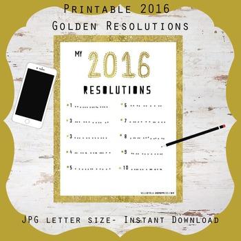 Free! 2016 Golden Resolutions List