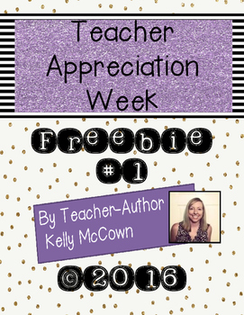 2016 Teacher Appreciation Week FREEBIE #1