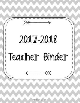 2017-2018 Teacher Binder. Teacher Planner. Lesson Plans. C