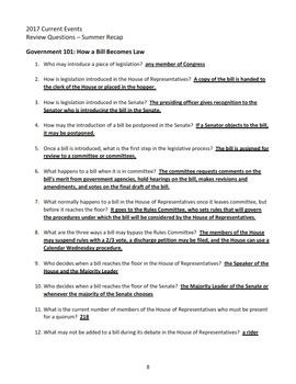 2017 AJHD Current Events Study Guide #1 - Summer Recap