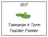 2017 Teacher Planner: Tasmanian (Frog Theme)