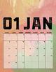 2017 Watercolor Printable Calendar