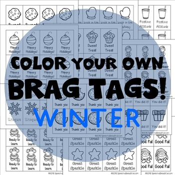 208 Brag Tags for Winter in English