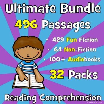 208 Reading Comprehension Passage ULTIMATE BUNDLE: Text Ev