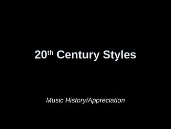 20th Century Classical Music Powerpoint
