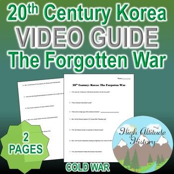 20th Century Korea: The Forgotten War Original Video Guide