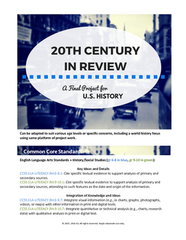 20th Century in Review: a Project for US History