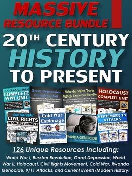 20th Century to Present (MASSIVE Resource Bundle) American