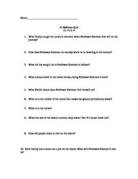 21 Balloons Quiz