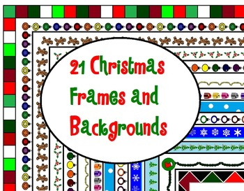 21 Christmas Backgrounds and Frames for Commerical/Personal Use