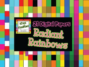 21 Digital Papers {Khrys Kreations} *Radiant Rainbows* {Us