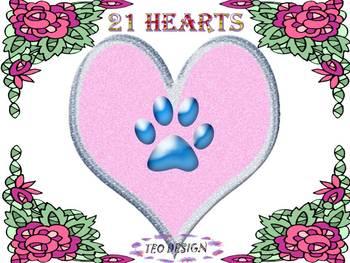 Valentine's Day - Hearts - Clip Art - different designs