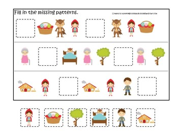 21 Little Red Riding Hood themed preschool games and works