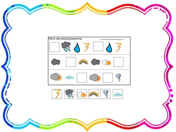 21 Wild About Weather themed preschool games and worksheet