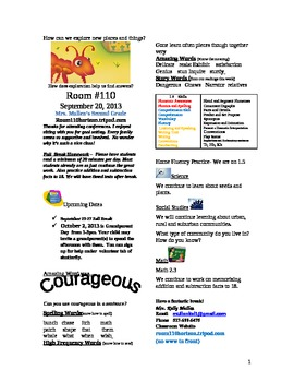 2.1.5 The Strongest One Reading Street 2nd Grade Newslette