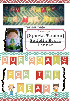 Our Goals For The Year: School Bulletin Board Set