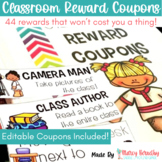 Classroom Reward Coupons for Classroom Management