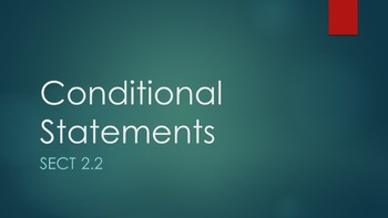 2.2 - Conditional Statements - Lesson PowerPoint
