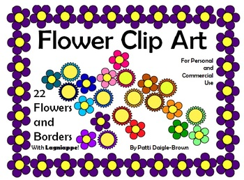 22 Flowers and Borders Clip Art - No Strings Attached!