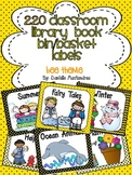220 Classroom Library Book Bin / Basket Labels {Bee Theme}