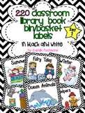 220 Classroom Library Book Bin / Basket Labels {Black and