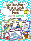 220 Classroom Library Book Bin / Basket Labels {Colorful C
