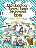220 Classroom Library Book Bin / Basket Labels {Yellow Gre