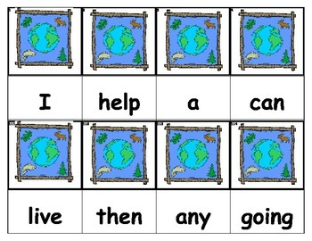 Dolch Words Flashcards - Earth Day