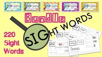 220 Sight Words BUNDLE