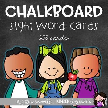220 sight words chalkboard word wall cards