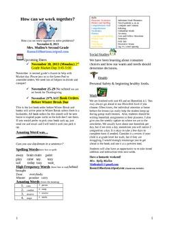 2.2.5 One Good Turn Reading Street 2nd Grade Newsletter Un