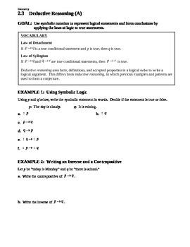 2.3 Deductive Reasoning (A)