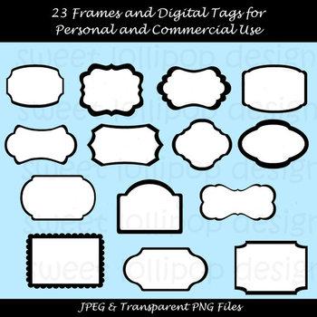 69 Digital Frames Clip Art or Clipart - Digital Tags Clip Art