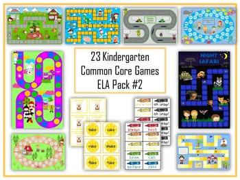 23 ELA Kindergarten Folder Games - Common Core Pack #2 -