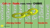 23 Phonics LONG Vowel Families: Paper Chains Literacy Cent